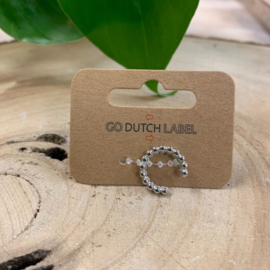 Go Dutch Label | Earcuff bolletjes zilver