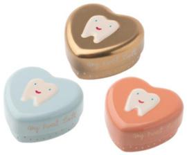 Maileg doosje hartvormig | 3 kleuren voor tanden