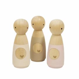 SPJ | houten poppetje zwangere vrouw