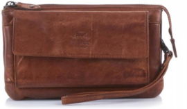 Bear Design clutch/portemonnee 'Cecile' | cognac