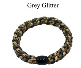 black colour elastiek | Kally elastic Grey Glitter