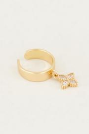 My Jewellery | earcuff hangend sterretje goud