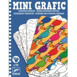 Djeco Mini Grafic Dieren inkleuren