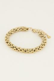 My Jewellery   armband chunky schakels goud