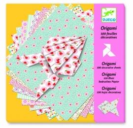 100 vellen origami papier pastel Djeco
