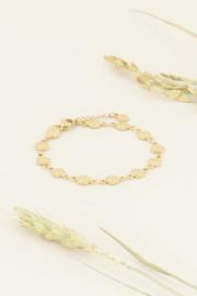 My Jewellery   armband bloemetjes goud