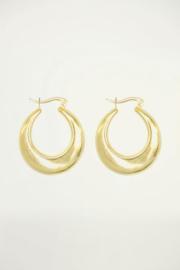 My Jewellery | grote oorringen 70's mat goud