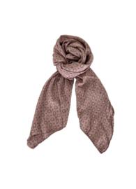 black colour sjaal | Bessie winter rose