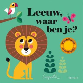 Leeuw, waar ben je? | karton flapjesboekje