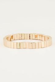 My Jewellery | armband met gouden platte kralen