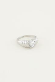 My jewellery | ring zirkonia hartje zilver