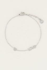My Jewellery | armband met love en hartje zilver