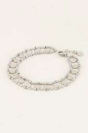 My Jewellery   armbandje dubbele muntjes zilver