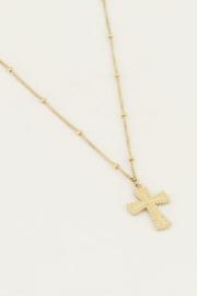 My Jewellery | ketting statement kruis goud