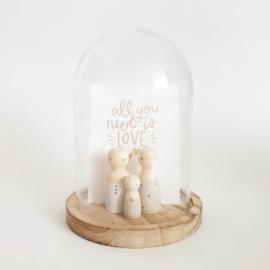 SPJ | glazen stolpje met quote