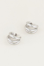 My Jewellery | oorringen driedubbel klein zilver