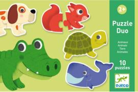 Djeco duo puzzel | dieren