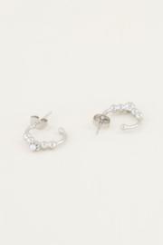 My Jewellery    oorringen bolletjes & parel zilver