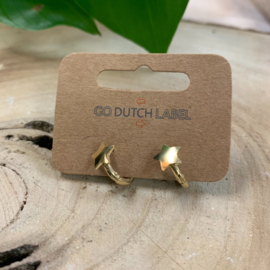 Go Dutch Label | oorbellen ring met ster goud