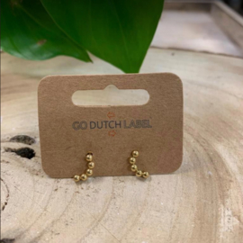 Go Dutch Label | oorbellen bolletjes goud