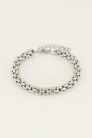 My Jewellery   armband chunky schakels zilver