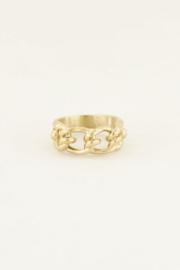My Jewellery | verstelbare ring met schakels goud