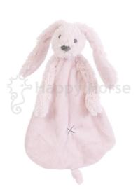 Happy horse konijn | Richie knuffeldoekje roze