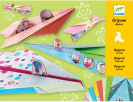Djeco origami | vliegtuigjes roze