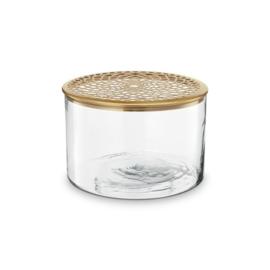 vtwonen | vaas met metalen deksel goud