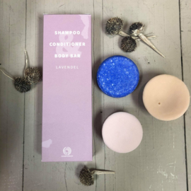 Shampoo bars | trioverpakking lavendel