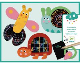 Djeco knutselen | kraskaarten voor peuters grappige dieren