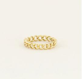 My Jewellery | Ring kleine schakels goud mt 16