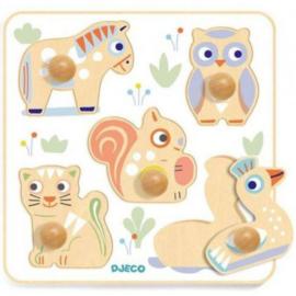 Djeco Baby White | Babypuzzi puzzel