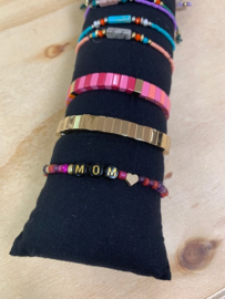 "My Jewellery | Multikleur kralenarmbandje ""MOM"""