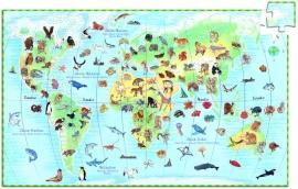 Djeco puzzel observation | werelddieren 100 stukjes
