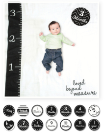 Lulujo Baby's First Year Swaddle & Cards | Loved beyond measure