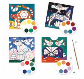 Djeco knutselen | kaarten beschilderen dieren