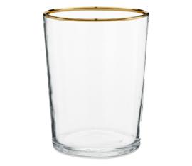 vtwonen decoratie glas | waxinelichthouder goud randje