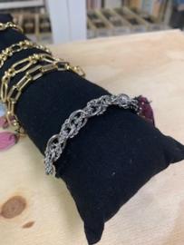 My Jewellery   armband schakels gedraaid zilver