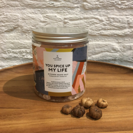 The Gift Label keuken zout   you spice up my life 550g