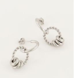 My Jewellery | Oorhangers rondjes zilver
