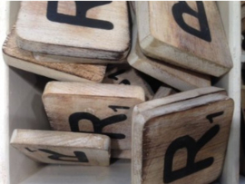 cottoncounts houten letter   Scrabble letter R