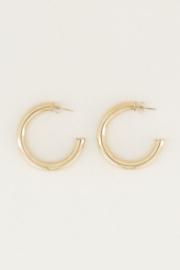 My Jewellery | oorringen rond medium goud