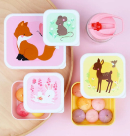 Little Lovely Company lunch & snackbox set | bosvriendjes