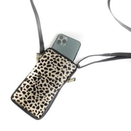 Bear Design | animal leren telefoontasje black dot