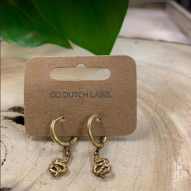 Go Dutch Label | oorbellen slang goud