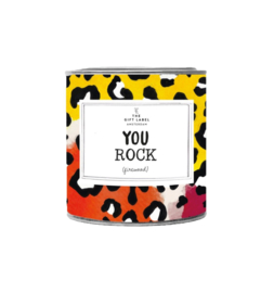 The Gift Label | You Rock, Jasmin vanilla 310g  candle