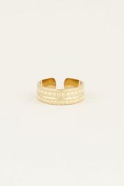 My Jewellery | verstelbare ring patroon goud