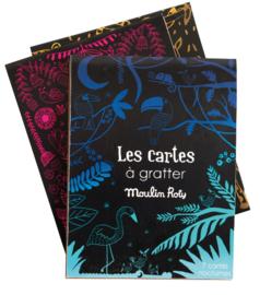 Moulin Roty knutselen | Kraskaarten Les cartes á gratter blauw