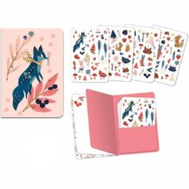 Djeco Lovely paper | notitieboekje met stickers Lucille (Vosje)